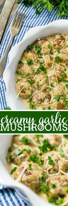 The Best Creamy Garlic Mushrooms! – The Love Nerds Add a mushroom side dish to your Thanksgiving and Christmas table this year! These easy Creamy Garlic Mushrooms are rich, flavorful and require only one pan, making it a perfect holiday side dish. Christmas Dinner Sides, Christmas Side Dishes, Thanksgiving Sides, Thanksgiving Recipes, Christmas Vegetable Side Dishes, Mushroom Side Dishes, Side Dishes Easy, Italian Side Dishes, Mushroom Dish