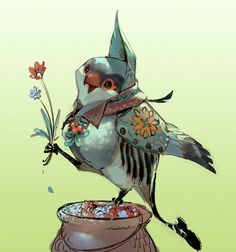 Small bird of florist