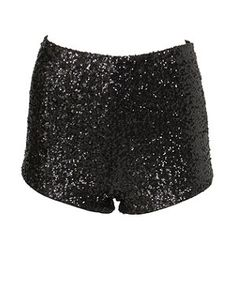 Black (Black) Parisian Black Sequin Hotpants | 269694601 | New Look