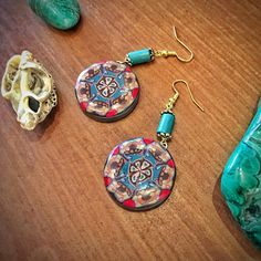 Boho Earrings Dangle Earrings Mandala Hippie Style