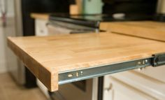 Increase your bench top or make a small breakfast bar