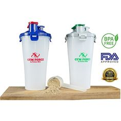BPA Free Water Bottle My Hydrate Dual Cup on Shaker Team Sports Big 20-28 oz Best For Protein in Gym Bottles (White-Silver-Green 1 Piece) ** Want additional info? Click on the image. (This is an affiliate link) #SportsNutrition