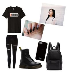 """BlackPink Jisoo Bad Girl Style🖤"" by stella2002 on Polyvore featuring Mode, River Island, Dr. Martens, PB 0110 und Givenchy"
