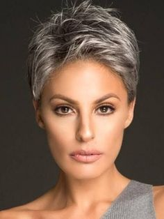 Haircut For Older Women, Short Hair Cuts For Women, Short Hairstyles For Women, Straight Hairstyles, Super Short Hair, Short Grey Hair, Undercut Hairstyles, Pixie Hairstyles, Formal Hairstyles