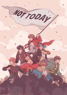 not today #bts #ynwa fanart