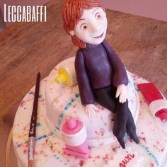 Painter cake topper