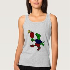 Funny T-Rex Dinosaur Playing Pickleball T-shirt
