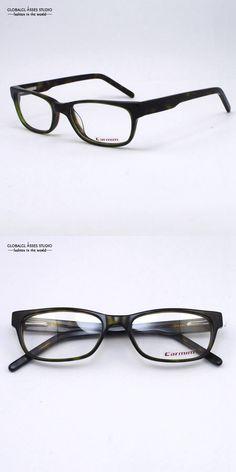 129b5a24a79 High Quality Male Female Fashion Design Green and Dime Brown Spring Hinge Optical  Glasses Acetate Frame Eyeglass