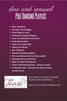 Slow, Sensual and Sexy Pole Workout Playlist from Tease Dance and Fitness