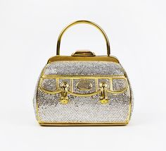 Judith Leiber Crystal And Gold Clutch