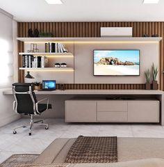 Bedroom Bed Design, Bedroom Furniture Design, Home Room Design, Modern Bedroom Design, Office Interior Design, Home Bedroom, Home Living Room, Bedroom Decor, Living Room Tv Unit Designs
