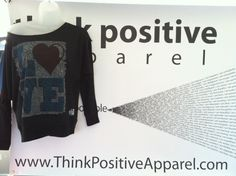 Off the shoulder love design by Think Positive Apparel. Entire design made out of quotes and philosophies on love. Awwww