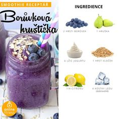 Milujeme smoothie, aneb 10 skvělých receptů, které musíš zkusit! | Blog | Online Fitness Smoothie Drinks, Fitness Smoothies, Fruit Smoothies, Low Calorie Cookies, Coffee Mousse, Yogurt And Granola, Cooking Recipes, Healthy Recipes, Frozen Banana