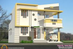 Indian House Design Double Floor Buildings Designs4 Home In 2019