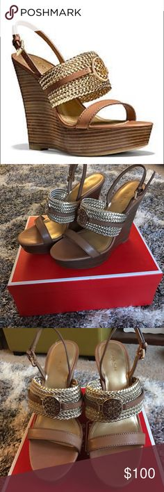 Coach Beatriz wedge. Size 7. New in box! Coach Beatriz wedge heel. New in box. Worn around the house in carpet only. Never worn outside or for more than even ten minutes! Size 7. Make an offer Coach Shoes Wedges