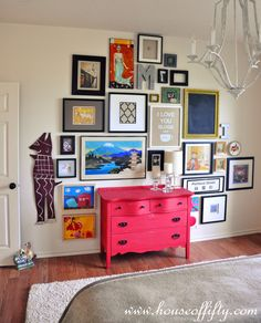 Isabella & Max Rooms: When You Have A Lot Of Art & Don't Know Where To Hang It...