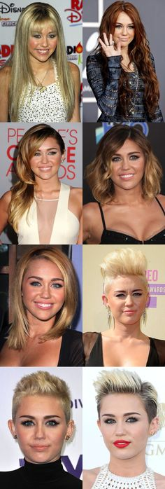 The Great Miley Cyrus Transformation. Click through for the timeline.