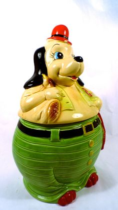 Cute Vintage Cookie Jar   Hunting Dog  He by savedfromthewreckage, $28.00