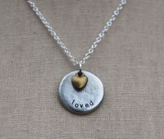 Breathe in this truth today: You are loved. Yes. Yes. Yes. (And if there is someone who needs this reminder, reach out to them and let them know. Imagine if each of us did that today.) :: a customizable Soul Mantra necklace