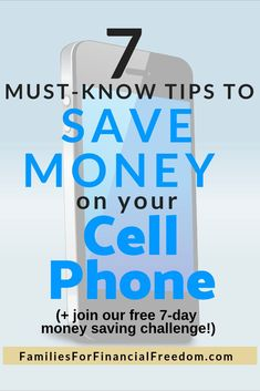 Cheap Phones—Discover how to save money on your cell phone or smartphone. If you are looking for a way to get cheap phones or cheap cell phone plans, you need to read this article! Best Money Saving Tips, Money Saving Challenge, Ways To Save Money, Saving Money, Money Tips, Money Plan, Money Savers, Frugal Living Tips, Frugal Tips