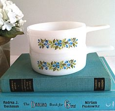 Vintage 1960s Jeanette Glasbake Blueberry Bowls French Casseroles by NonabelleVintage,