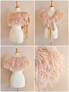 Image of Mitsou ostrich feather capelet