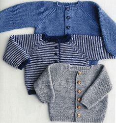Ravelry: Rilletrøje pattern by Lene Holme Samsøe Baby Boy Knitting, Knitting For Kids, Baby Knitting Patterns, Baby Patterns, Baby Knits, Knitted Baby, Cardigan Bebe, Baby Cardigan, Pull Bebe