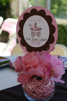 Baby Shower Centerpiece ......change colors for boy