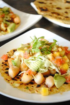 For a creative take on your everyday taco, try Spicy Scallop Tacos with Mango Salsa. @Valerie Avlo Anderson