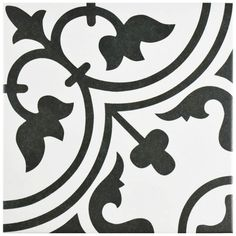 Merola Tile Arte White 9-3/4 in. x 9-3/4 in. Porcelain Floor and Wall Tile (10.76 sq. ft. / case)