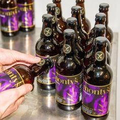 Bottling up some more of our #glutenfree #beer Masquerade.  www.montysbrewery.co.uk
