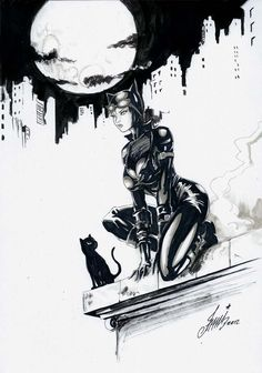 Catwoman on the roof by HM1art.deviantart.com on @DeviantArt
