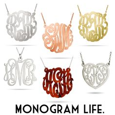It's all about the monogram life.