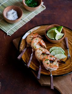 White on Rice Couple: Citrus Tequila Shrimp Skewers