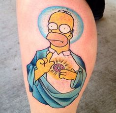 homer simpson tattoo intim