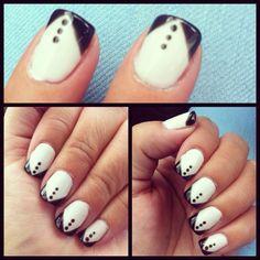 Tuxedo gelish mani ✨ More fabulocity by Veronica!!