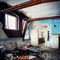 Abandoned State School classroom in Massachusetts. Lindsay Blair Brown.