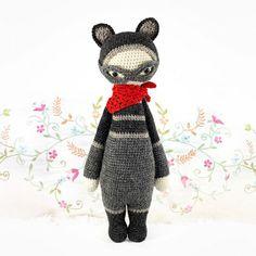 Roco The Raccoon Amigurumi Pattern - http://pinterest.com/Amigurumipins
