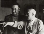 Albert Skira & Pablo Picasso, 1973.