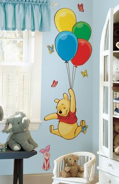 Winnie the Pooh - Pooh & Piglet Peel & Stick Giant Wall Decal Wall Decal at AllPosters.com