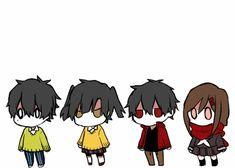 Mekakucity Actors - Chibi Haruka / Kuroha, Chibi Takane / Ene, Chibi Shintaro, and Chibi Ayano
