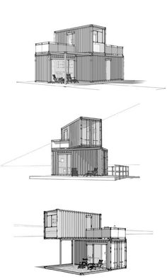 02_artdepartment_Minimalhouses_klein There are 10 things you should do and 10 you should not do when building with shipping containers. Container Buildings, Container Houses, Storage Container Homes, Cargo Container Homes, Container House Design, Container Home Plans, Container Van, Container Office, Building A Container Home