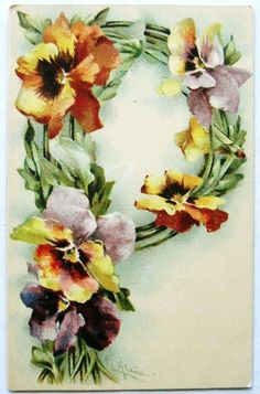 I'd change the colors of the flowers, though. Pansies and Letter P @Pamela Culligan Culligan Culligan Culligan Way