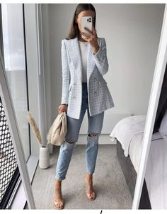 Mode Outfits, Office Outfits, Ootd Fashion, Fashion Outfits, Womens Fashion, Classy Outfits, Trendy Outfits, Blazer Outfits, Professional Outfits