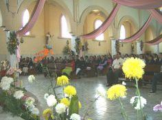 Ziquítaro, fiesta patronal. Una vista de la parte frontal del recinto