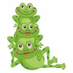 Cute Frogs 10 machine embroidery designs