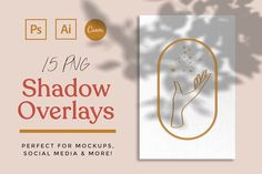 Ad: 15 Shadow Mockup Overlays by andshesbrave on Perfect for adding a more personal touch to product or logo mockups, or just a fun overlay for social media photos and design projects. Web Design, Graphic Design Trends, Graphic Design Inspiration, Creative Inspiration, Flyer Design, Design Art, Design Ideas, Floral Logo, Mockup Templates