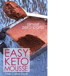 Low Carb Recipes Dark chocolate Low Carb Mousse dessert with almost no carbs. This dessert may be sweet but it's also very low in carbs. Perfect for anyone on an LCHF or keto diet. Freeze for keto pops or ice cream. Desserts Keto, Keto Snacks, Keto Dessert Easy, No Carbs Dessert, Healthy Chocolate Desserts, Simple Keto Desserts, Diabetic Dessert Recipes, Heavenly Dessert Recipe, Keto Desserts Cream Cheese