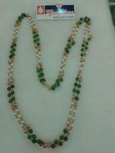 Gold Jewelry In Egypt Kids Gold Jewellery, Gold Jewelry Simple, Emerald Jewelry, Bead Jewellery, Pearl Jewelry, Pearl Necklace Designs, Beaded Jewelry Designs, Beaded Necklace, Gold Necklace