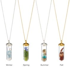 SEASONS TERRARIUM NECKLACES | fall jewelry, summer, spring, winter | UncommonGoods